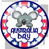 20MM Koala in Australia Print glass snaps buttons