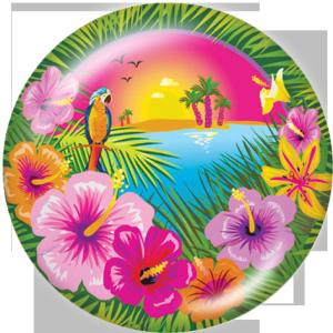20-mm-Blumendruck-Glasknöpfe