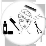 20MM Friseur Drucken Sie die Druckknöpfe aus Glas