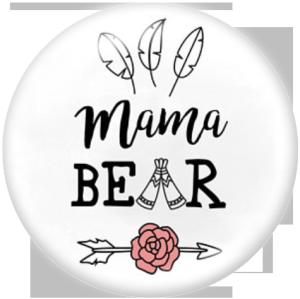 Botones a presión de vidrio con estampado MOM MAMA de 20MM
