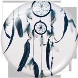 20MM Dream catcher Print glass snaps buttons