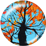 20MM Tree of life Print glass snaps buttons