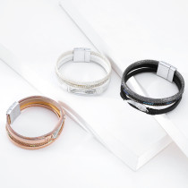 Angel Wing personalisierte Retro mehrschichtige Magnetarmband Lederarmband