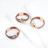 Богемный многослойный кожаный браслет, модный новый цвет, соответствующий цвет, магнитная пряжка, тонкий браслет