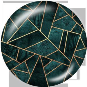 Botones a presión de vidrio de impresión de diseño de 20 mm