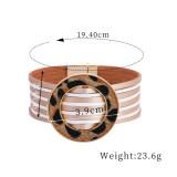Mehrfarbige Pferdehaar-Ringschnalle Mehrschichtiges Lederarmband mit Magnetschnalle