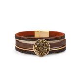 Neues Damenarmband mehrschichtiges Lederschloss mehrschichtiges Armband