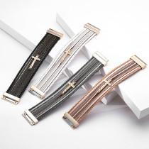 Mehrschichtige PV-geflochtene Kreuz-Magnetverschlussarmband im böhmischen Stil