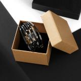 Kreatives Multi-Circle-Armband Leopardenmuster mehrschichtig Perlenmagnetarmband aus magnetischer Schnalle