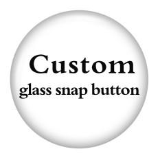 Benutzerdefinierte 3 Größen Glasdruck Bilder Snap-Taste