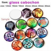 Kundenspezifische 9 Größen Glas Cabochon verschiedene bedruckte Glas