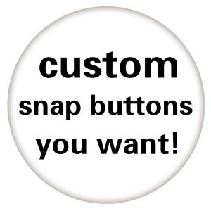 Botón a presión de imágenes de impresión de vidrio de 3 tamaños personalizados