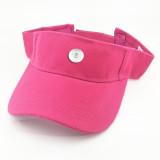 Sombrero de verano para el sol sombrero de tenis protección solar ajuste 18 mm botón a presión beige