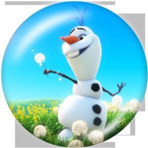 Стеклянные кнопки Olaf Print 20 мм