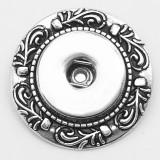 1 bouton pression broche interchangeable plaqué argent antique boutons pression bijoux