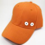 Chapeau de soleil d'été Casquette de baseball protection solaire fit bouton pression 18 mm beige