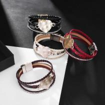 PU Leder National Style Armband Schmuck Böhmische dreischichtige geflochtene Schlangenhaut Armband Liebesarmband