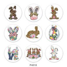 20MM Easter Print Glasschnappknöpfe