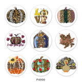 20MM Thanksgiving Print glass snaps buttons