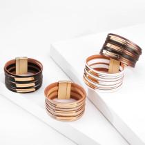 Mehrschichtiges Kupferrohrzubehör mit breitem Rand Armband Damen Retro dünne Kette Mode Armband