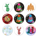 20MM  festival Print glass snaps buttons