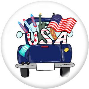 20 мм флаг Соединенных Штатов с принтом на кнопках на стекле