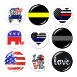 20MM  Flag of the United States Print glass snaps buttons