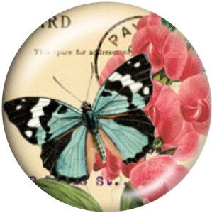 20 MM Schmetterling Drucken Sie die Druckknöpfe aus Glas