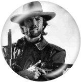 20MM Cowboy Drucken Sie die Druckknöpfe aus Glas