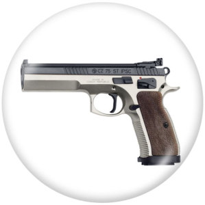 Botones a presión de vidrio con estampado de pistola de 20 mm