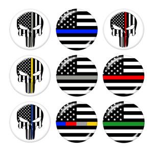 Стеклянные кнопки с изображением национального флага 20 мм