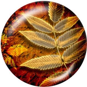 Botones a presión de vidrio con estampado de hojas de 20 mm