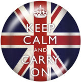 20MM carry on Print glass snaps buttons