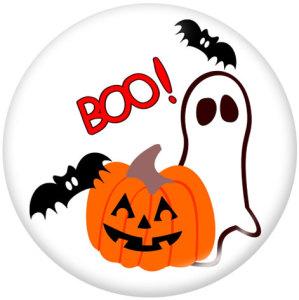 Botones a presión de vidrio con estampado de Halloween de 20 mm
