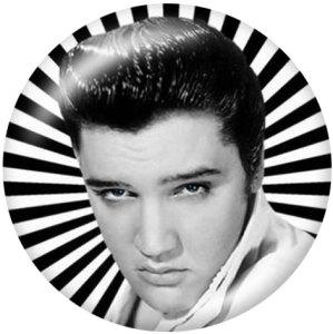 Botones a presión de vidrio con estampado de Elvis Presley de 20 mm
