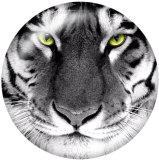 20MM Tiger Print Glas Druckknöpfe
