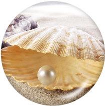 Botones a presión de vidrio con estampado de playa de 20 mm Beach Ocean