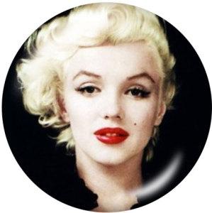 Botones a presión de vidrio con estampado Marilyn Monroe de 20 mm