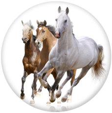 Botones a presión de vidrio con estampado de caballo de 20 mm