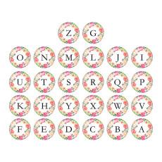 20 mm Alfabeto botón a presión 26 palabras vidrio broches intercambiables joyería
