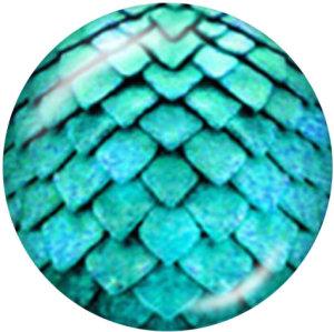 Botones a presión de vidrio con estampado de serpentina de 20 mm