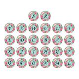 Bouton-pression Alphabet 20 MM 26 mots verre interchangeable boutons-pression bijoux