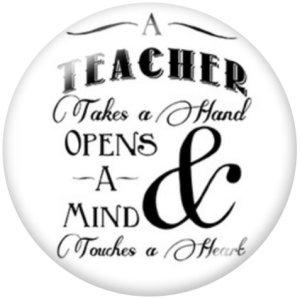 Botones a presión de vidrio con estampado de profesor de 20 mm