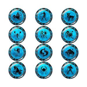 Камень-камень 20 мм 12 созвездий со стеклянным дном
