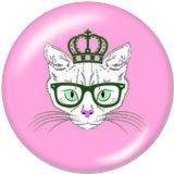 20MM猫プリントガラススナップボタン