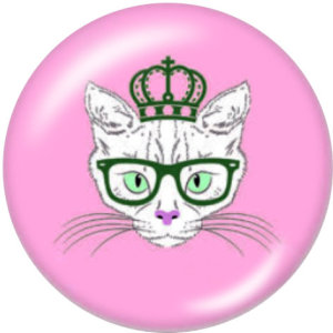 20MM Katze Drucken Sie die Druckknöpfe aus Glas