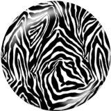Botones a presión de vidrio con estampado de patrón decorativo de 20 mm