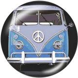 20MM Schulbuswagen Drucken Sie die Druckknöpfe aus Glas