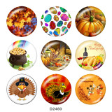 20MM Thanksgiving glass snaps buttons