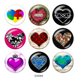 20MM love glass snaps buttons
